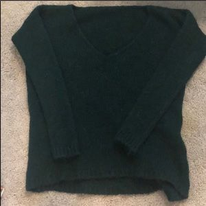 V-Neck Green Sweater Size M